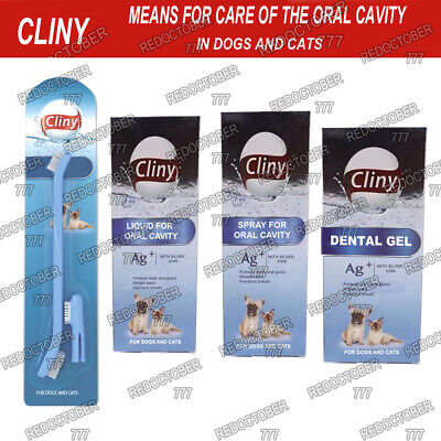 Clini oral care products for dogs and cats Plaque off removal dental Dog Cat