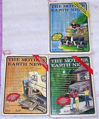 Mother Earth News 1976 Issues No. 40 41 42 Homesteading Prepping Diy