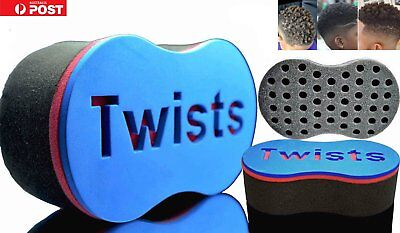 Double Wave Magic Curly Hair Twist Sponge Afro Dreadlock Curl Brush A5