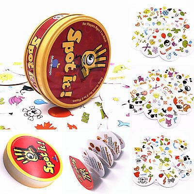 Spot It Dobble Find It Board Funny Card Game Toy For Kids Family Gathering Party