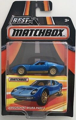2017 Matchbox Best Of 1968 Lamborghini Miura P400 S Blue Moc