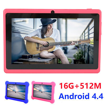 "7"" Inch Android 4.4 512MB+16GB Quad Core Dual Camera Wifi Tablet PC Kids Child"