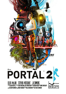 Portal 2 Game Silk Poster Art Prints Picture 13x18 24x32 inches Wall Decoration