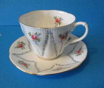 Royal Albert Minuet  Cup & Saucer  Excellent Condition Small Pink Roses