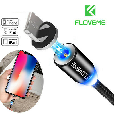 Original FLOVEME Braided Magnetic Lightning USB Cable Charging For Apple iPhone