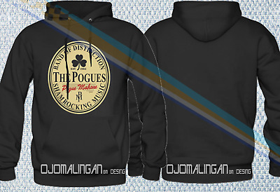 6853801c FUNNY POGUES BEER LABEL HOODIE | NEW | Tribute Irish Punk Music Parody  HOODIE