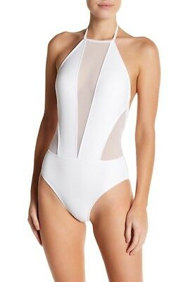 919200439 NEW TED BAKER TAPESTRY Halter One-Piece Swimsuit SZ 2 US 4 - 6 Black ...