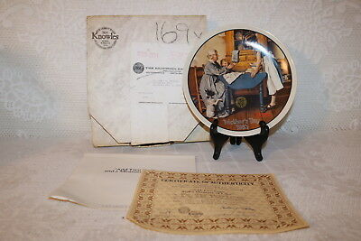 Norman Rockwell Collector Plate ADD TWO CUPS & A MEASURE OF LOVE Mother's Day