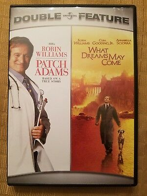 Patch Adams /What Dreams May Come (DVD) Robin Williams *Ships FAST! Combine Ship