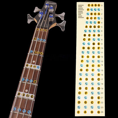 2* Bass Guitar Fretboard Scale Labels Stickers For Beginners Learning Hot RTYS