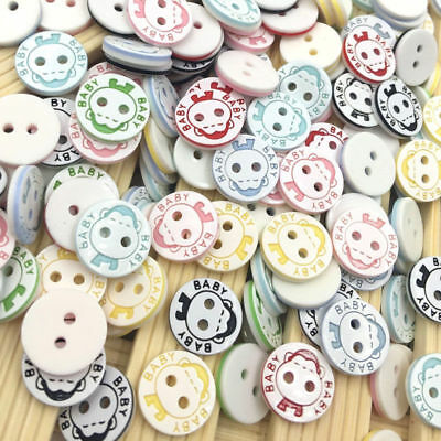 100pcs 13mm Mix Baby Plastic Buttons Scrapbooking Sewing Craft PT138