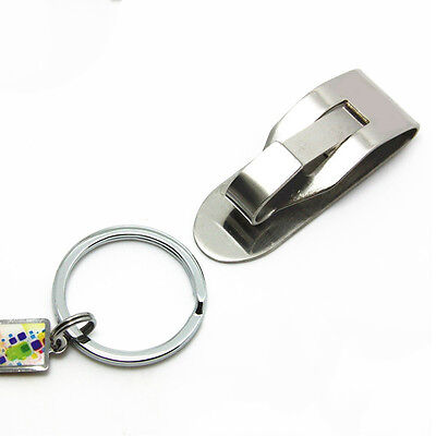 Security Belt Clip Detachable Pull Apart Quick Release Keychain Key Rings Holder