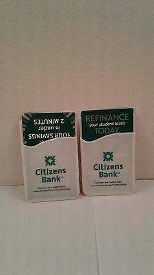 Citizens Bank Phone Card Holders/Caddies Lot of 2