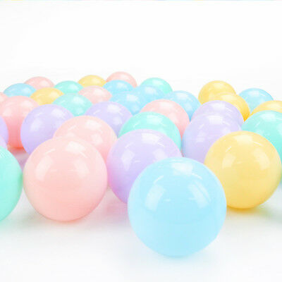 100Pcs/lot Eco-Friendly Colorful Ball Soft Plastic Ocean Ball Funny Baby Kid  A2