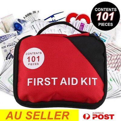 101 piece First Aid Kit Family Supplies Survival Medical Workplace Travel O8