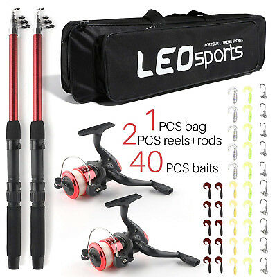 SupsShop Telescopic Fishing Pole Combo Set, All-in-one 1.8m/5.9ft Full Kit