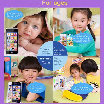 Kids Simulator Music Toy Cell Phone Touch Screen Educational Learning Kid Gift Q