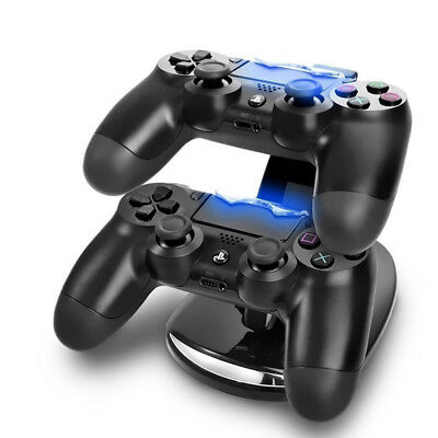 Dual USB Controller Charger Charging Stand Station Dock for PS4 Dualshock LED