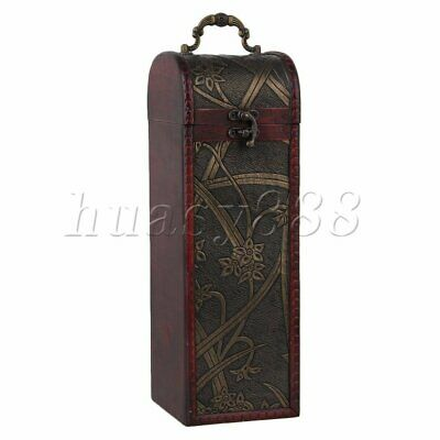 Retro Vintage Wooden Wine Box Bottle Case Wedding Bridesmaid Birthday Gift