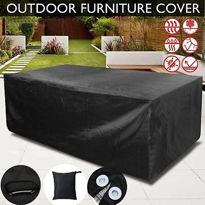 Black Gardman Waterproof Outdoor Garden Furniture Covers Table, Bench, Chair
