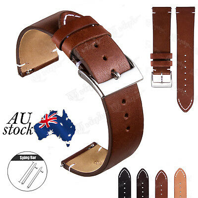 Retor Quick Release Leather Watch Strap For Samsung Galaxy Watch 42mm 46mm Band