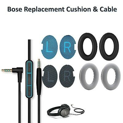Replacement Ear Pads Cushions Cable for Bose® QuietComfort 35 QC35 II QC25 QC15