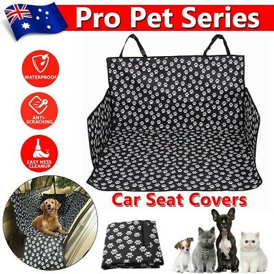 Dog Back Car Seat Cover Hammock NonSlip Protector Mat+Dog Seatbelt Waterproof