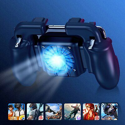 PUBG Mobile Phone Game Trigger Controller Holder Gamepad Joystick Cooler Fan #BK