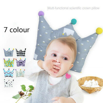 Infant Baby Anti Roll Pillow Memory Foam Positioner Newborn Prevent Flat Head US