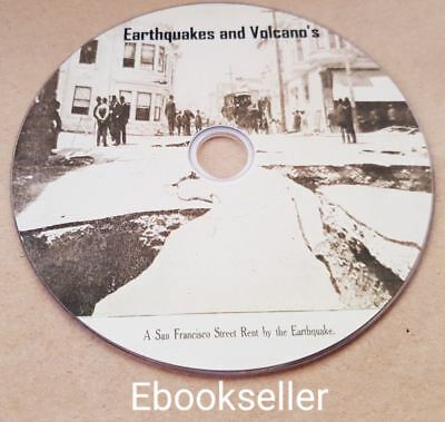 Earthquakes and Volcanos, interesting reading 30 related ebooks in pdf on disc