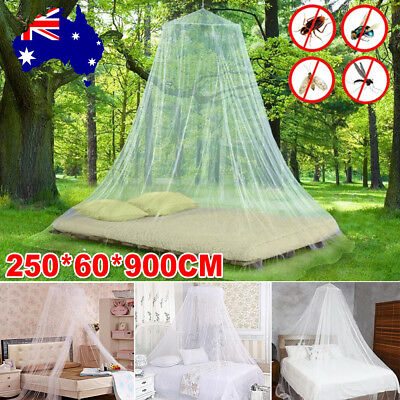 Double Single Queen Canopy Bed Curtain Stopping Mosquito Insect Net Round Dome
