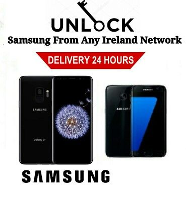 Unlock Code Samsung Galaxy J3 J6 Plus A6 A7 A8 A9 Vodafone O2 Three Eir Ireland
