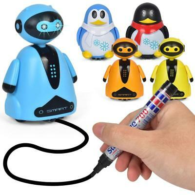Magic Pen Inductive Car Truck Automatic Follow Drawn Line Kids Electric Toys New