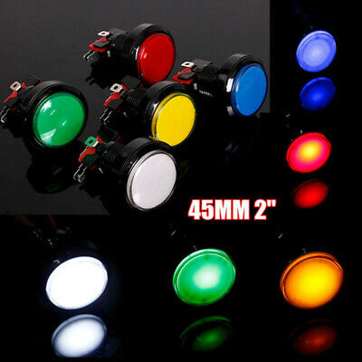 Arcade Video Game Big Round Push Button LED Lighted Illuminated Lamp 5V/12V 45MM
