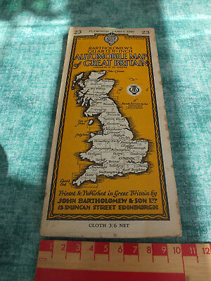 BARTHOLOMEWS QUARTER INCH MAP ~ No 23 ~ PLYMOUTH - LANDS END ~ ON PAPER