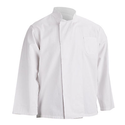 White Long Sleeve Chef Jackets Catering Kitchen White Chefs Coat for Unisex