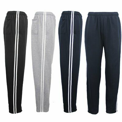 New Mens Plain Trousers Track Sweat Pants Suit Gym Jogging Casual Sport Trackies