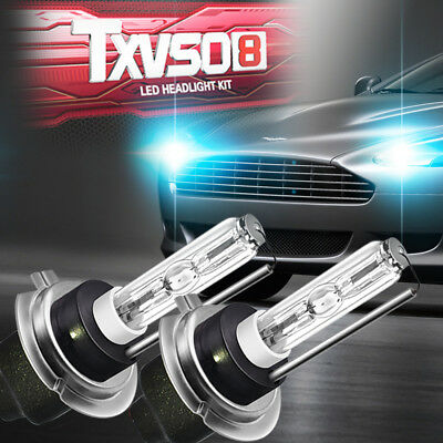 2PCS H7 Hid Xenon Headlight Bulbs Kit Metal Base 5000/6000/8000K 35W Lamp Bulb