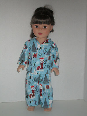 "Winter Llama Pajamas for 18"" Doll Clothes American Girl"