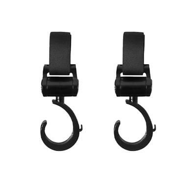 2pcs Multi Purpose Baby Pram Stroller Wheelchair Swivel Hanger Hooks Clips