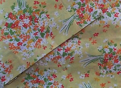 Vintage Burlington House Yellow Orange Green Floral Farmhouse Garden Pillowcases