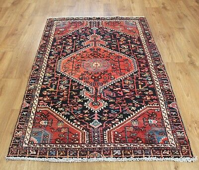 Old Wool Hand Made Persian Oriental Floral Runner Area Rug Carpet 160X 94 Cm