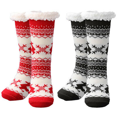 6d229622d753b Best Gift Women Winter Thermal Knit Thick Slipper Socks Anti-Slip Bed Home  Socks