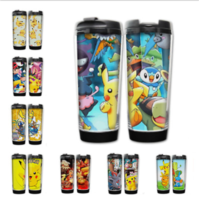 Anime Pokémon Stainless Steel Water bottles Portable Insulated Cups Cos Gift #6