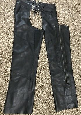 Harley Davidson Womens Leather Chaps Size Large Riding Pants Excellent condition
