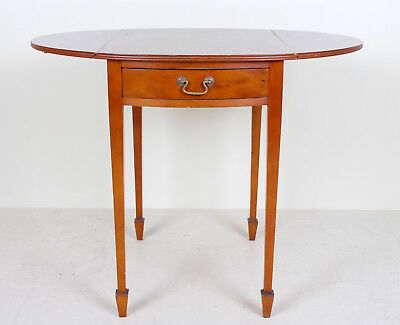 Yew Pembroke Table Antique Vintage Drop Leaf Console Table