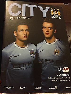 New Manchester City v Watford FA Cup Fourth Round Programme 2013/2014