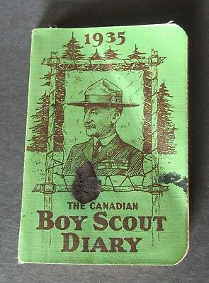 Vintage Official The Canadian Boy Scout Diary 1935