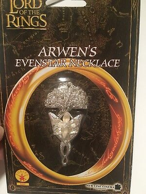 Rubies Lord of The Rings Arwen's  Evenstar Costume Jewelry Necklace, New