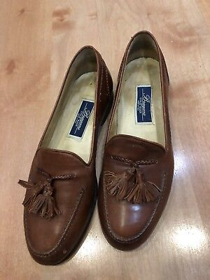 007b4e68be2 Bragano By Cole Haan Mens Loafers Made In Italy Brown Leather Tassel Size 9M